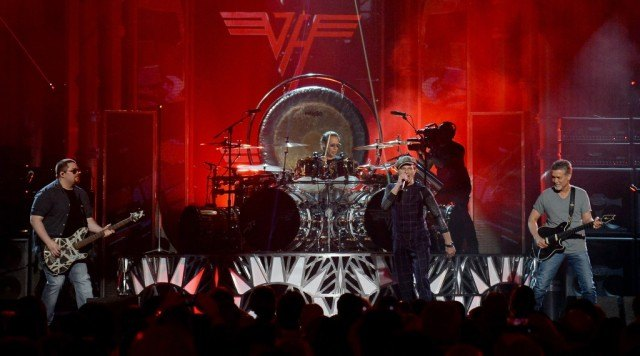 Van Halen performs during the 2015 Billboard Music Awards.
