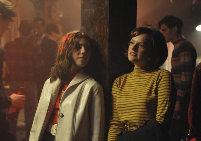 Zosia Mamet as Joyce and Elisabeth Moss as Peggy in 'Mad Men.'
