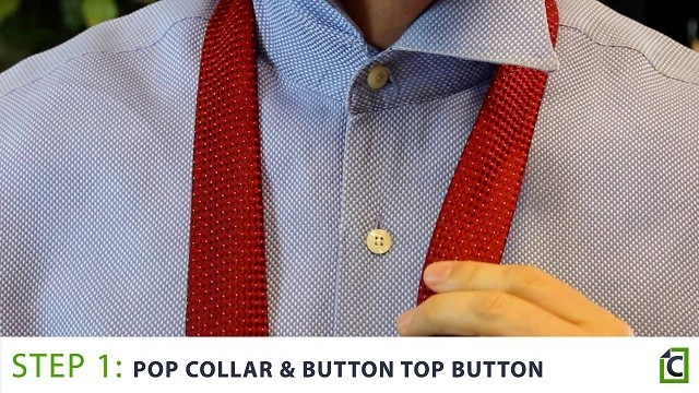 pop your collar and button the top button