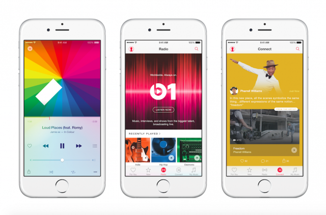 Apple Music app on iPhone 6