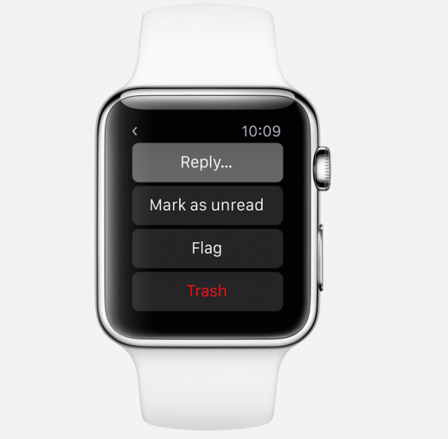 Apple Watch enables users to reply to emails