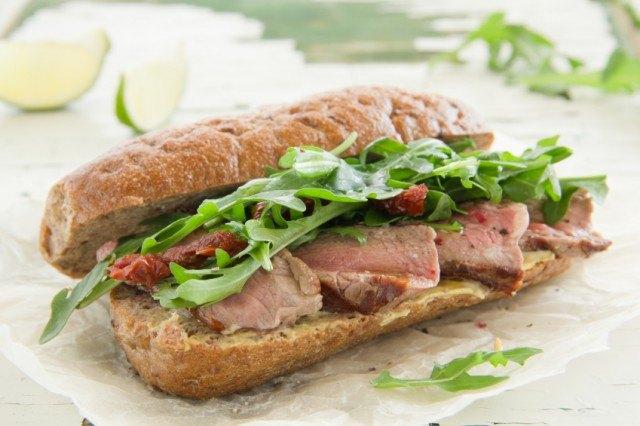 grill, steak sandwich
