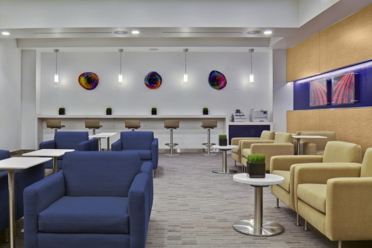 Delta Sky Club at Seattle-Tacoma International Airport.
