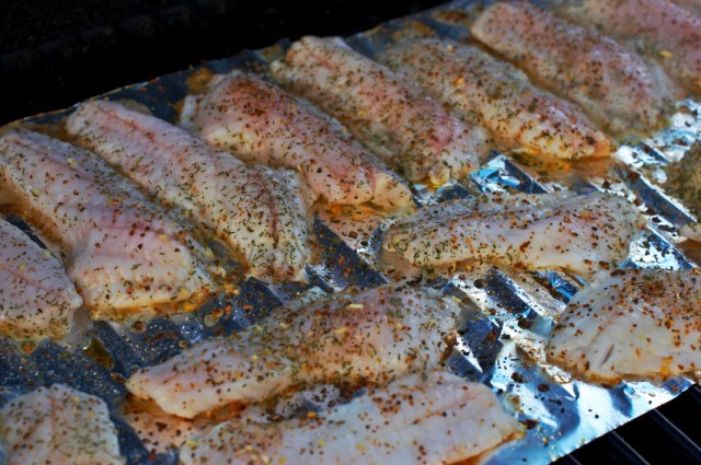 Cod, fish on the grill