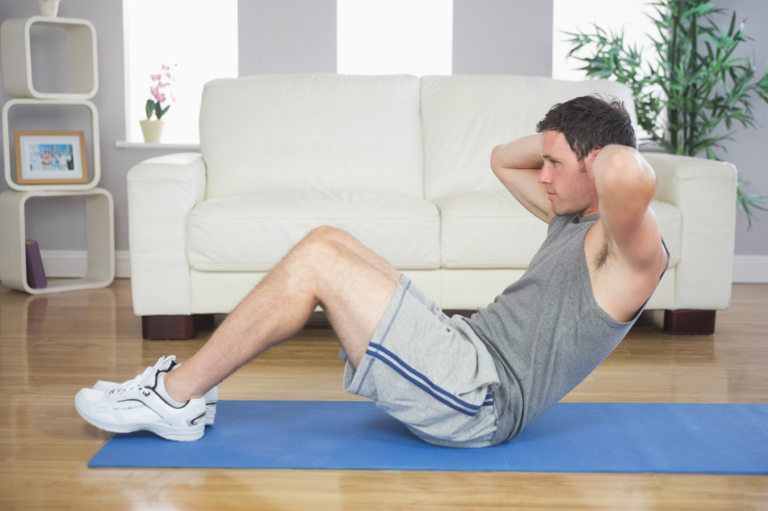 sit ups, home, exercise