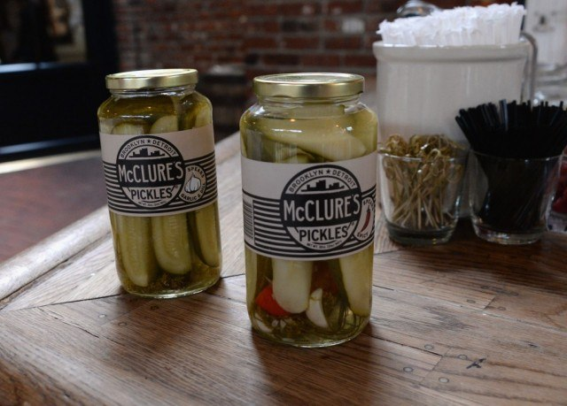McClure's Pickles in jars