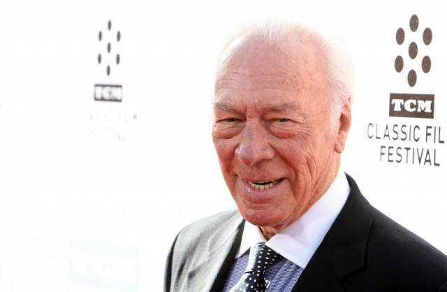 Christoper Plummer walks the carpet at a TCM Classic Film Festival event
