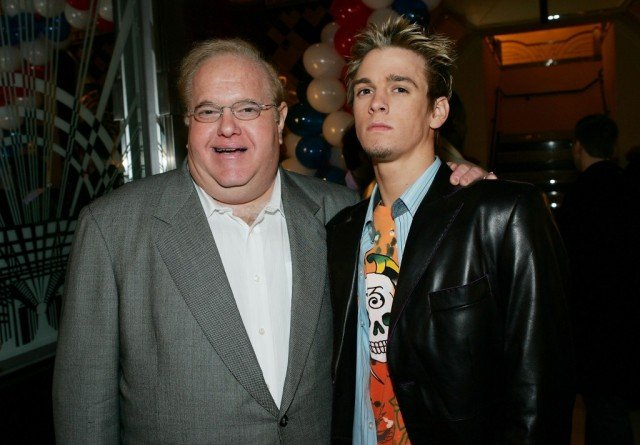 Record impresario Lou Perlman and singer Aaron Carter attend the 6th Annual T.J. Martell 'Family' Day' Indoor Carnival Benefit at Cipriani's Fifth Avenue March 6, 2005 in New York City. (Photo by Evan Agostini/Getty Images)