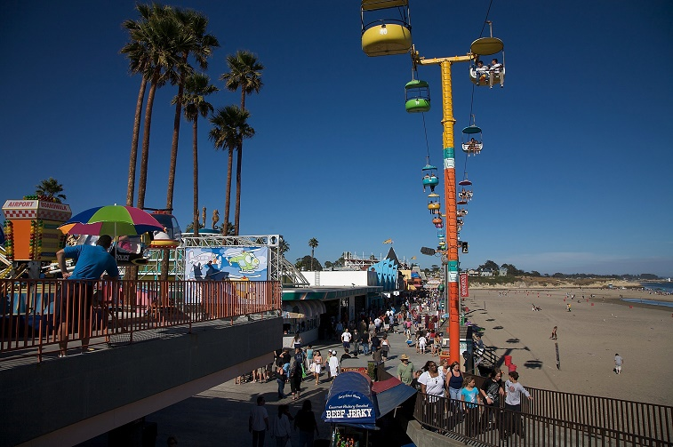 Santa Cruz California Beaches and Boardwalk