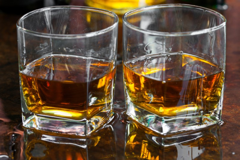 Whiskey on the rocks, drink