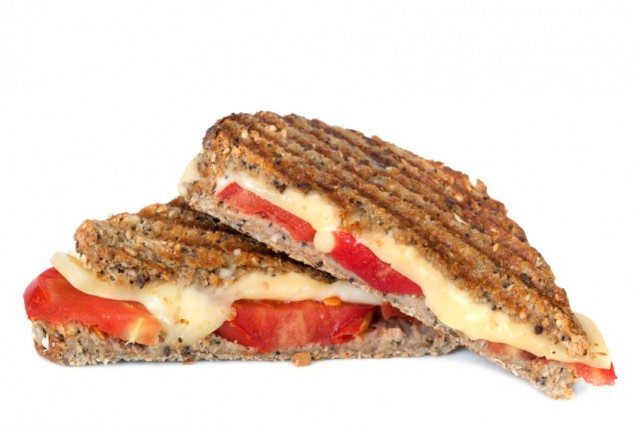 tomato, cheese, sandwich, grilled