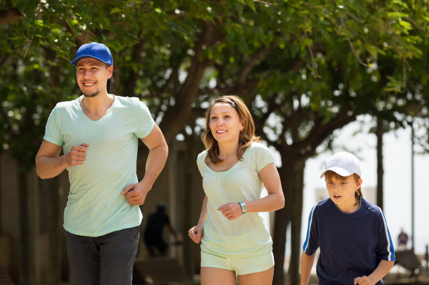 running with your family