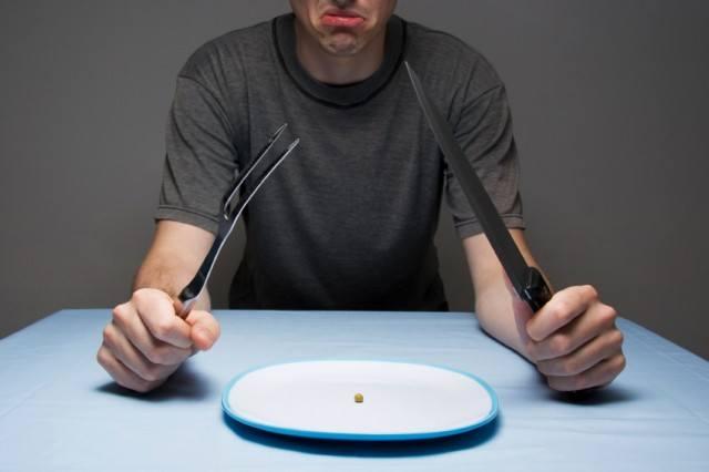 Man on a restrictive diet
