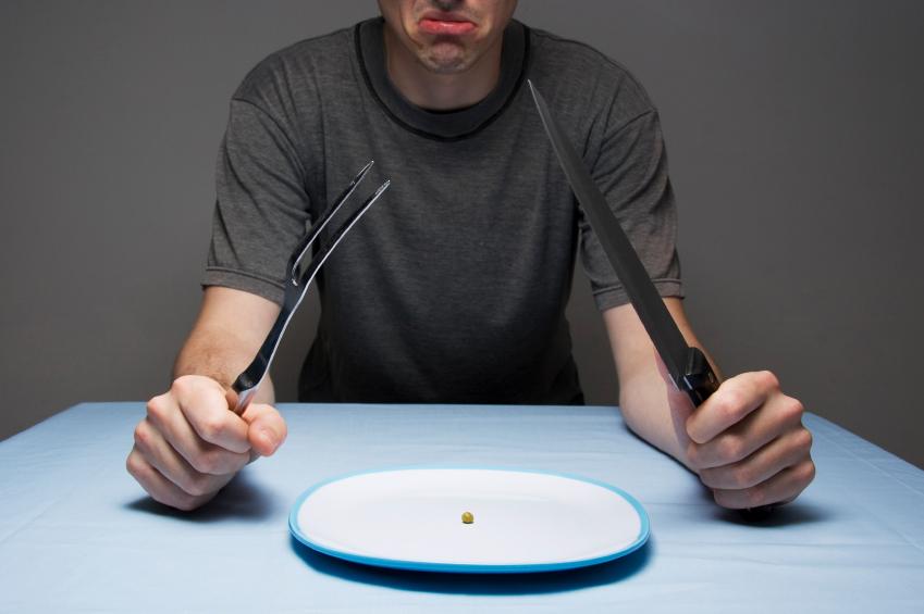 A man partaking in dangerous diets