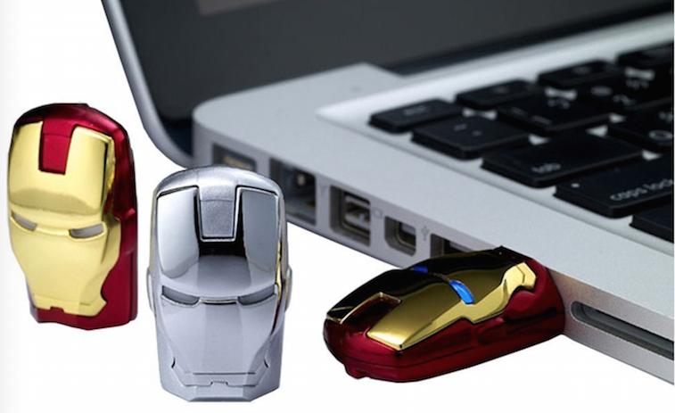 Newdigi Iron Man Models Full Capacity 16gb USB Flash Drive Gift Tony Stark New and Fashion +Gift Box