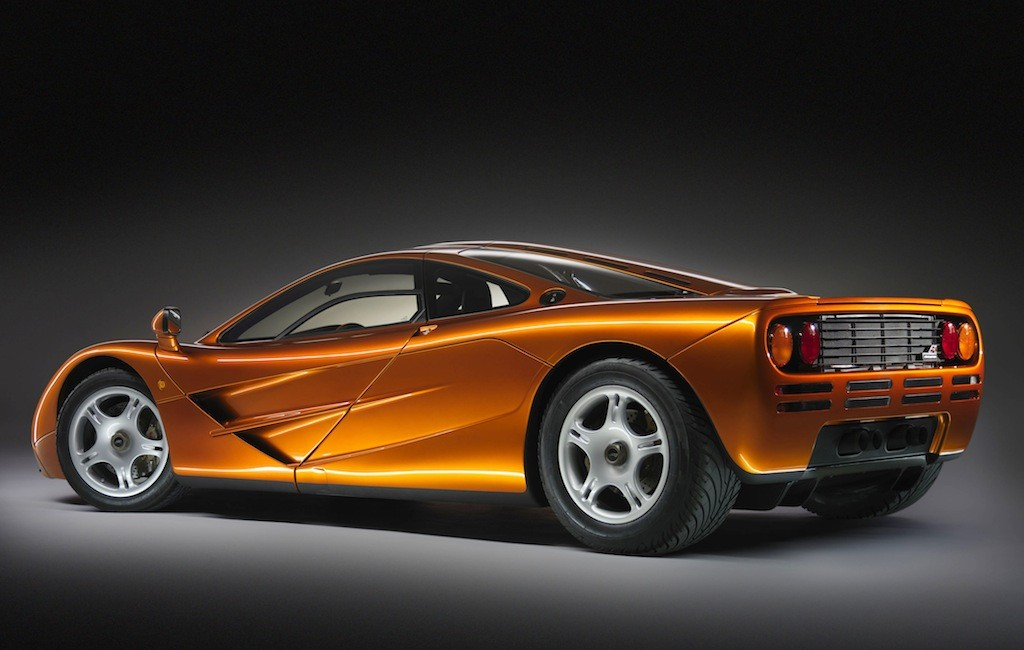 A view of the 1993 McLaren F1.