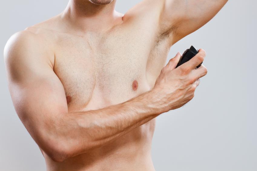 man, deodorant