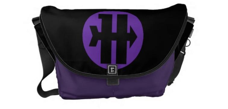 Hawkeye On Target Logo Messenger Bags