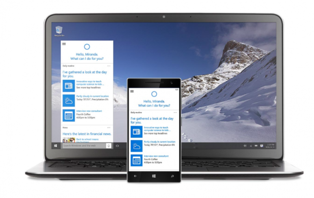 Microsoft Windows 10 with Cortana