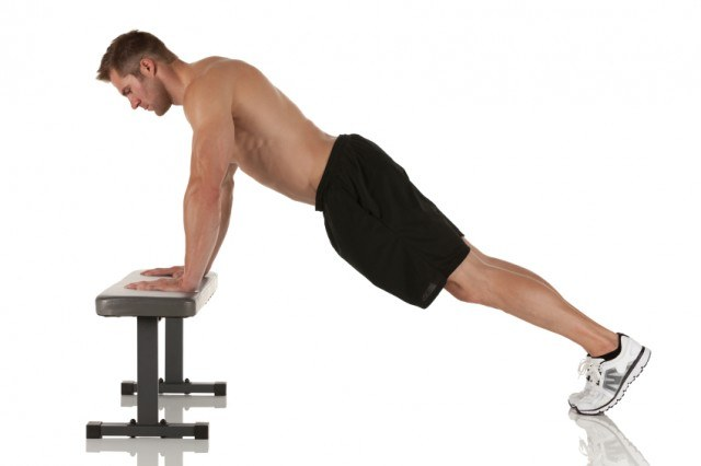 modified push up on bench