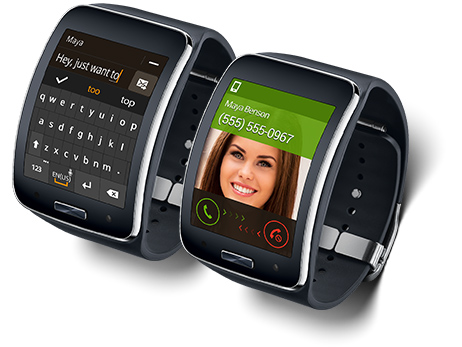 Samsung Gear S wearable device