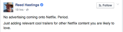 Reed Hastings - Netflix CEO