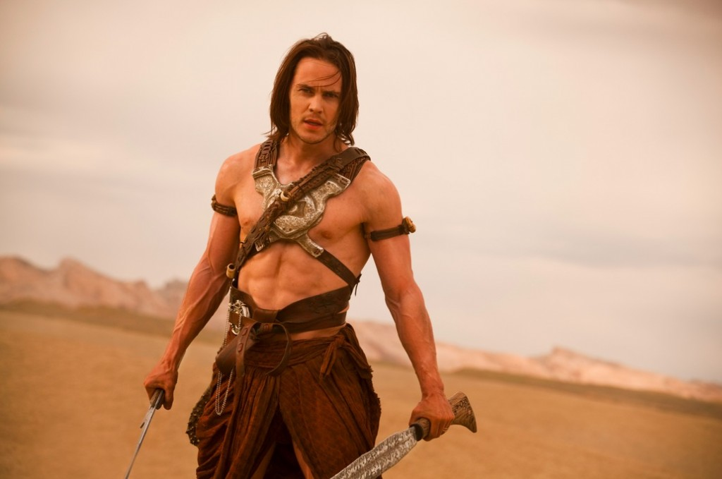 John Carter's titular hero draws his swords on open land