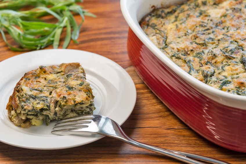 spinach and egg casserole