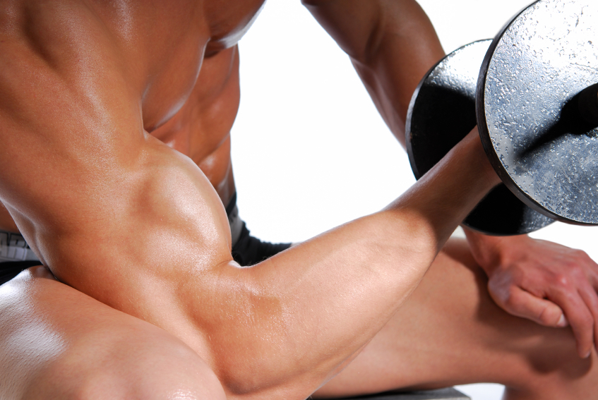 exercise, biceps, weights