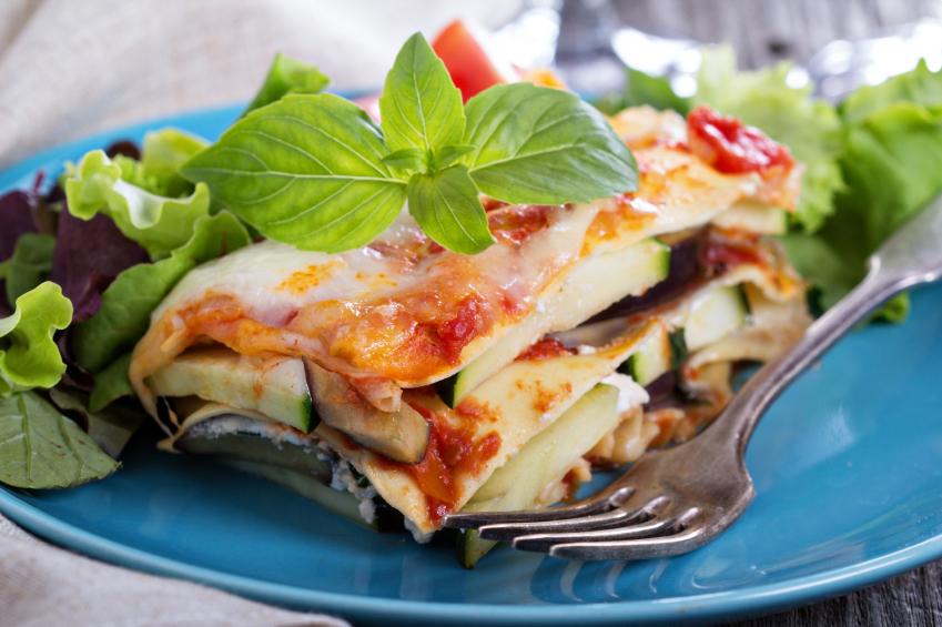 Vegetables in lasagna