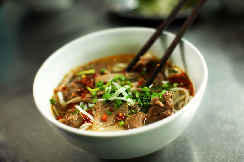 pho, beef, noodles