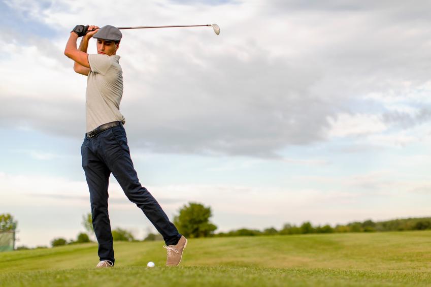 Young Man Playing Golf Jpg