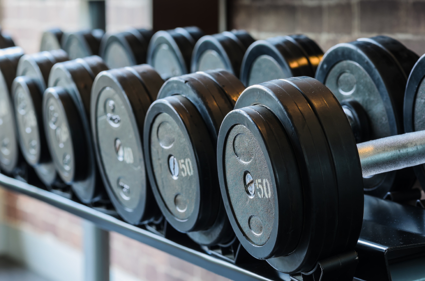barbel weights in gym for fitness