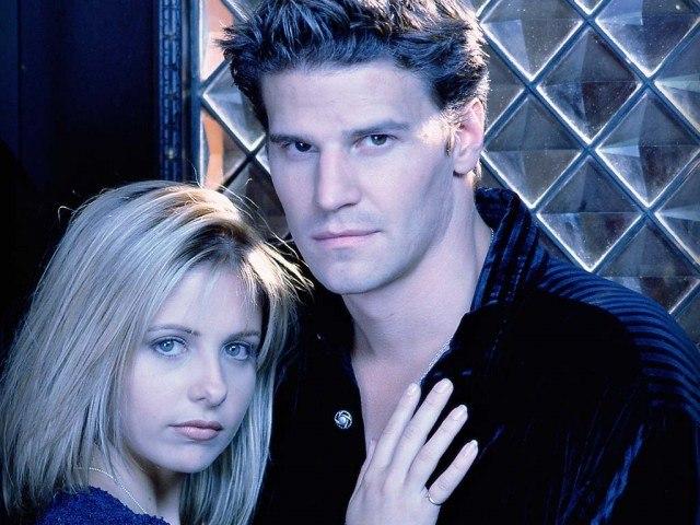 Sarah Michelle Gellar and David Boreanaz in 'Buffy the Vampire Slayer.'