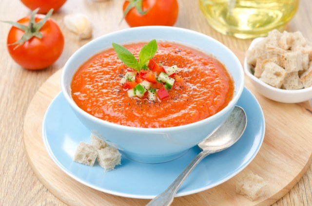 gazpacho is a great no-bake recipe
