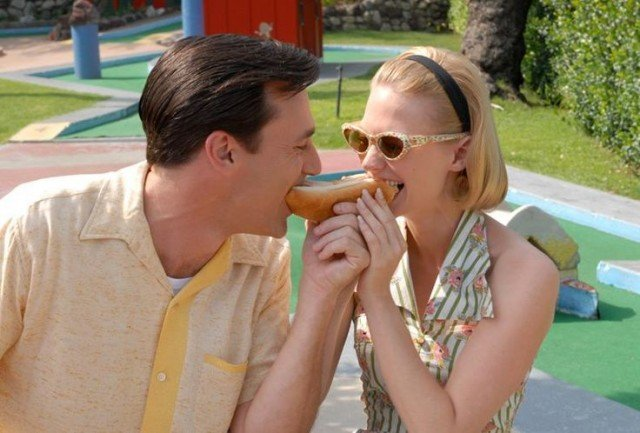 Don Draper and January Jones in 'Mad Men.'