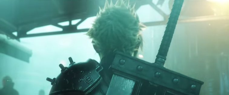 Cloud Strife and his giant sword in 'Final Fantasy VII Remake'