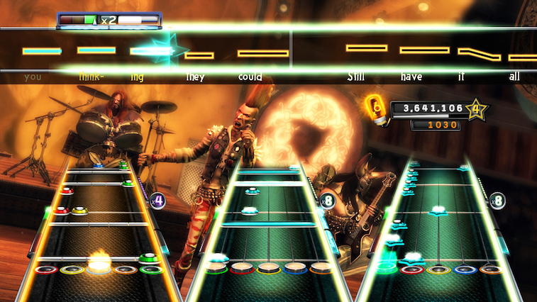 Guitar Hero 5 in action