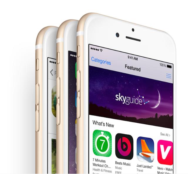 iOS 8 App Store on iPhone 6