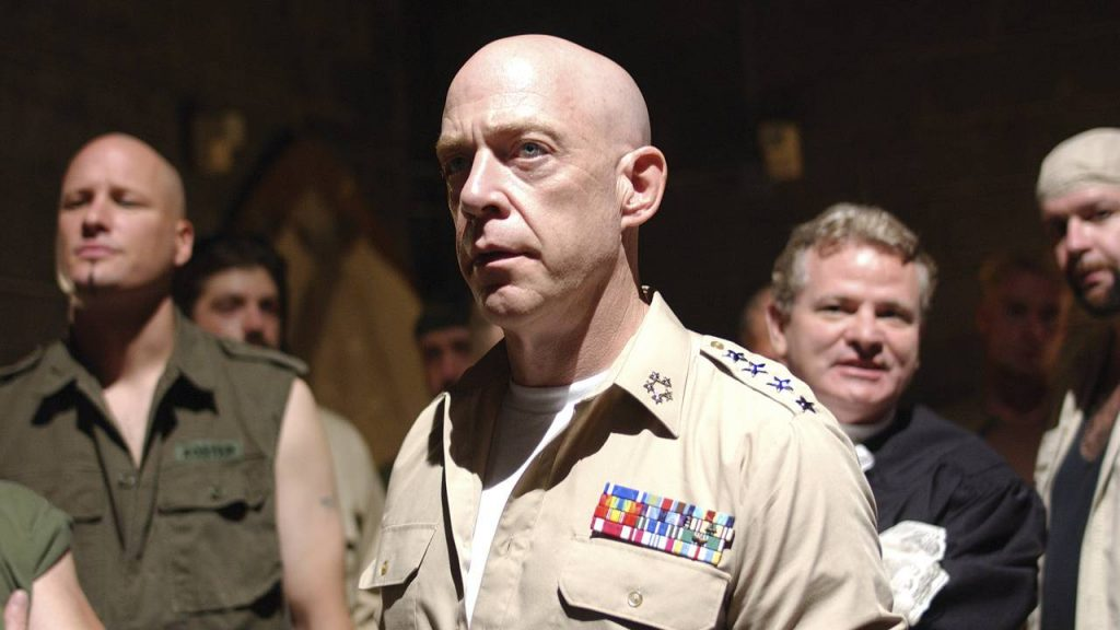 JK Simmons wearing a military officer's uniform on Oz