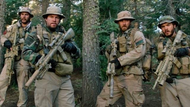 Taylor Kitsch, Mark Wahlberg, Ben Foster and Emile Hirsch in 'Lone Survivor.'