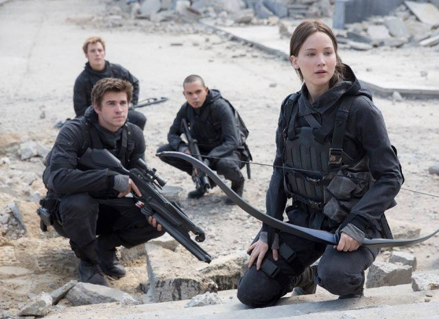 Jennifer Lawrence stars as Katniss Everdeen in 'The Hunger Games: Mockingjay -- Part 2.'