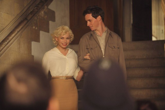Michelle Williams and Eddie Redmayne in My Week with Marilyn