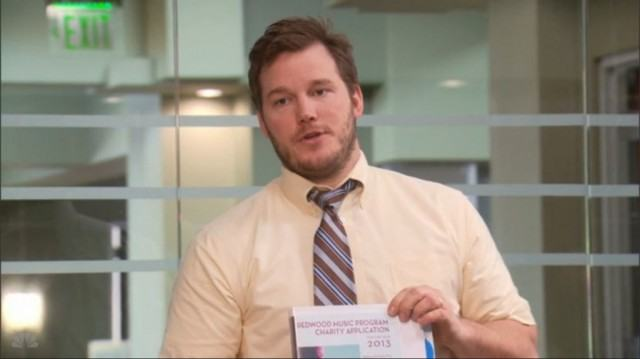 Chris Pratt in 'Parks and Recreation.'