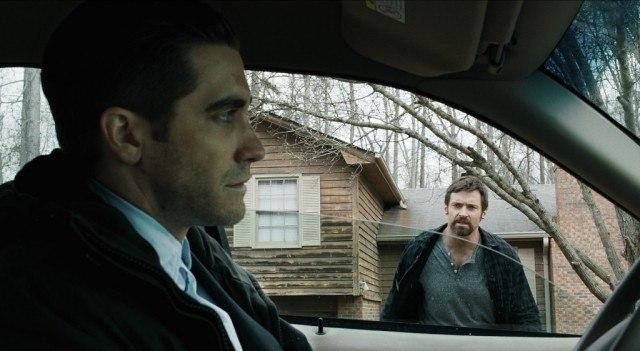 Jake Gyllenhaal and Hugh Jackman in 'Prisoners.'