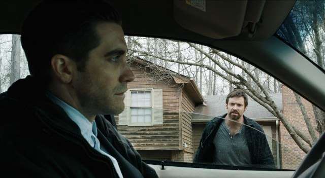 Jake Gyllenhaal and Hugh Jackman in 'Prisoners.'