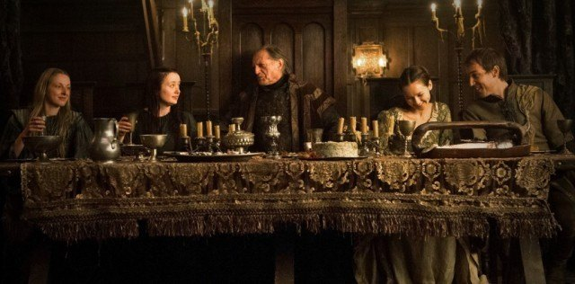 The Red Wedding taking place during the third season of Game of Thrones.