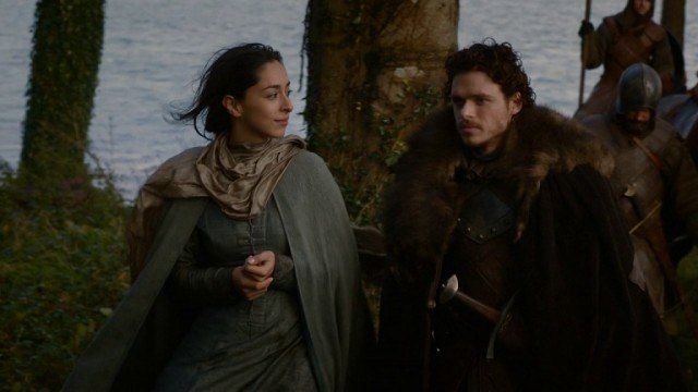Talisa and Robb Stark in 'Game of Thrones.