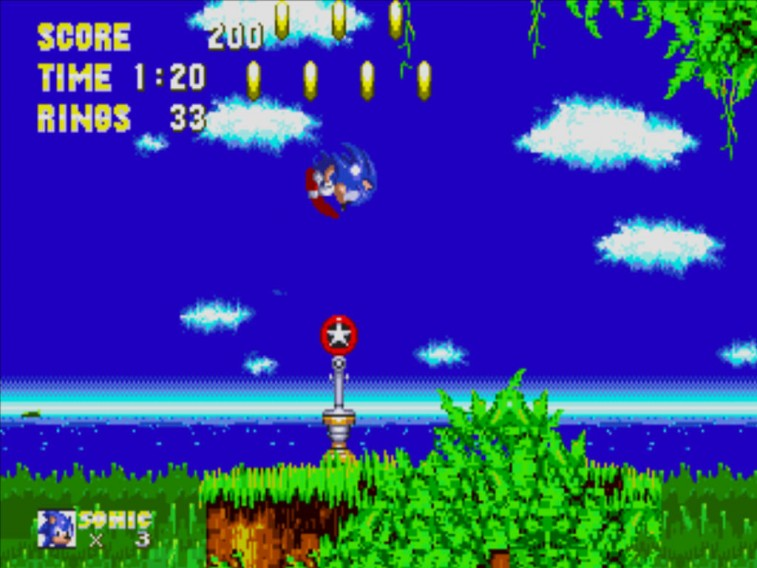 Sonic from Sonic 3.