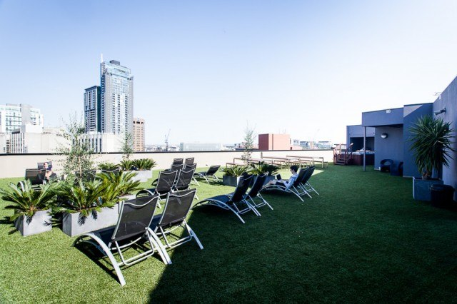 Roof deck at the Space Hotel, Melbourne
